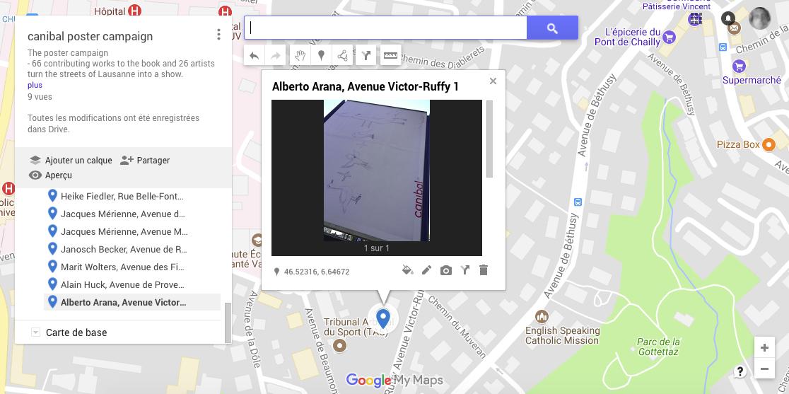 Alberto Arana, avenue victor-ruffy 1, Lausanne-map
