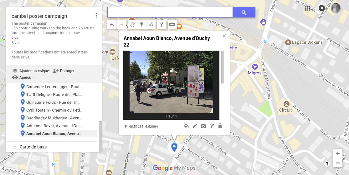 Annabel Aoun Blanco, avenue d'Ouchy 22, Lausanne-map