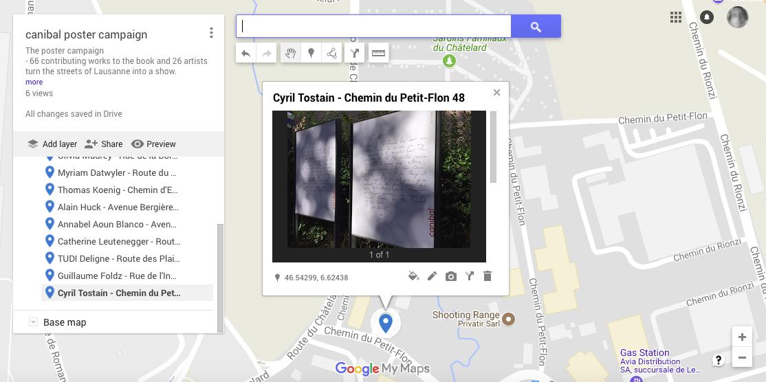 Cyril Tostain, chemin du petit-flon 48, Lausanne-map