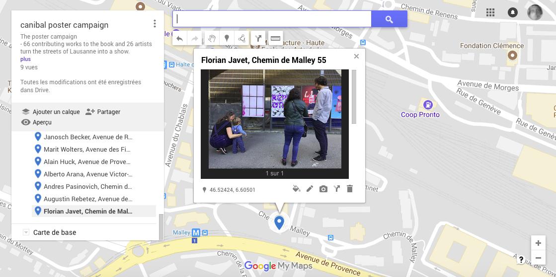 Florian Javet, chemin de malley 55, Lausanne-map