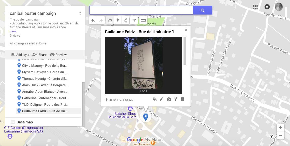Guillaume Foldz, rue de l'Industrie 1, Lausanne-map