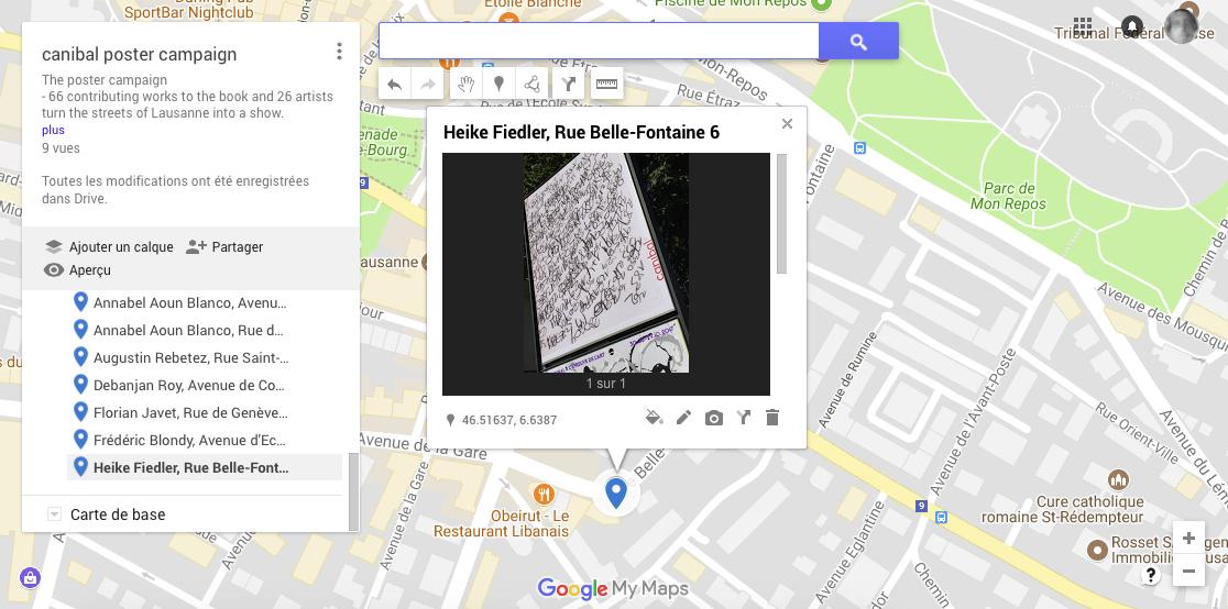 Heike Fiedler, rue Bellefontaine 6, Lausanne-map