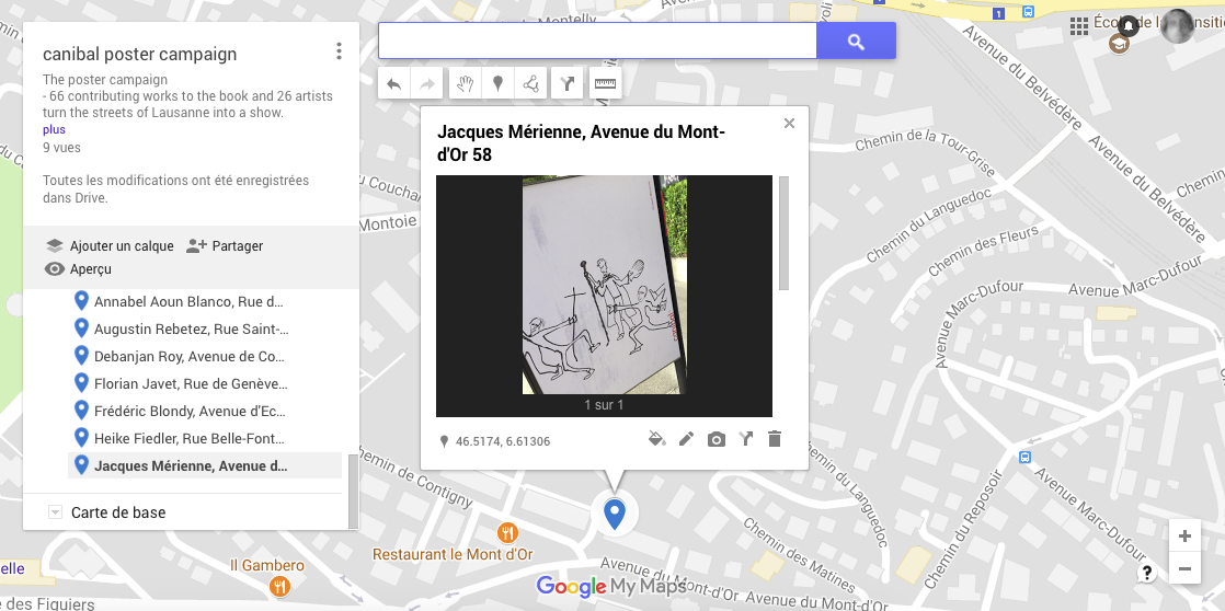 Jacques Mérienne, avenue du Mont-d'or 58, Lausanne-map