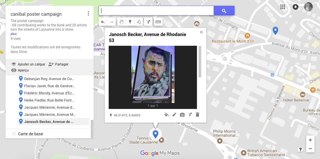 Janosch Becker, avenue de Rhodanie 53, Lausanne-map