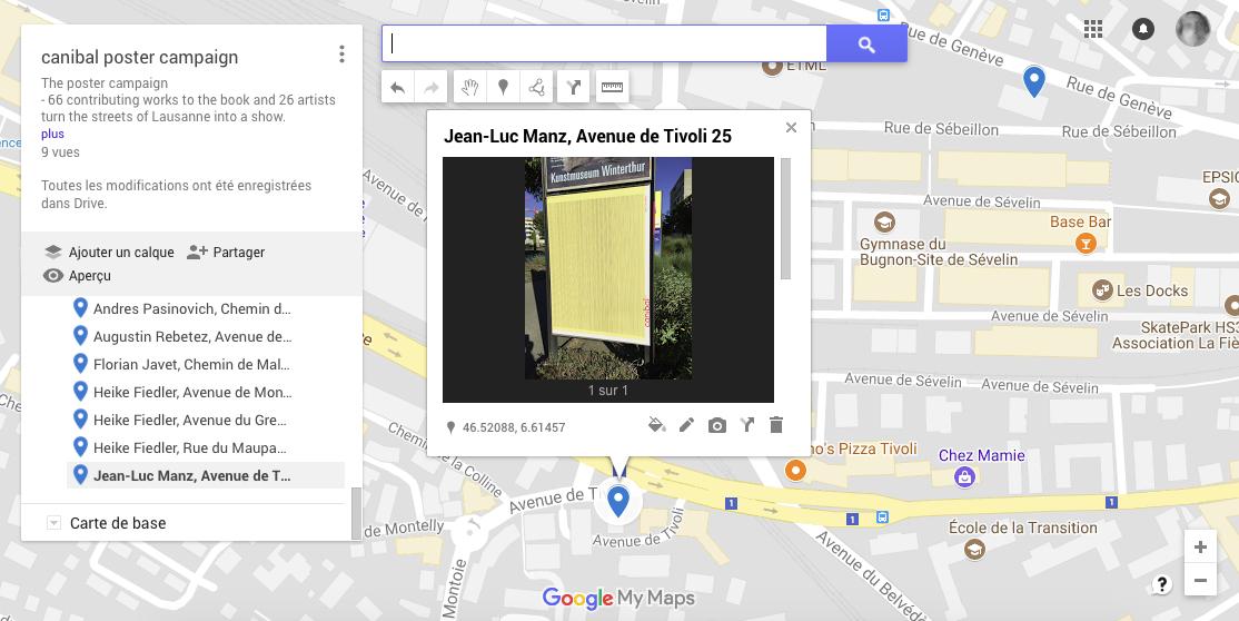 Jean-Luc Manz, avenue de tivoli 25, Lausanne-map