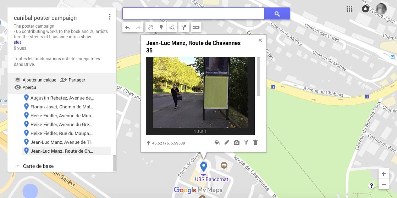 Jean-Luc Manz, route de chavannes 35, Lausanne-map