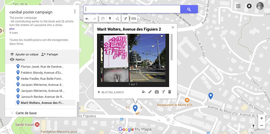 Marit Wolters, avenue des Figuiers 2, Lausanne-map