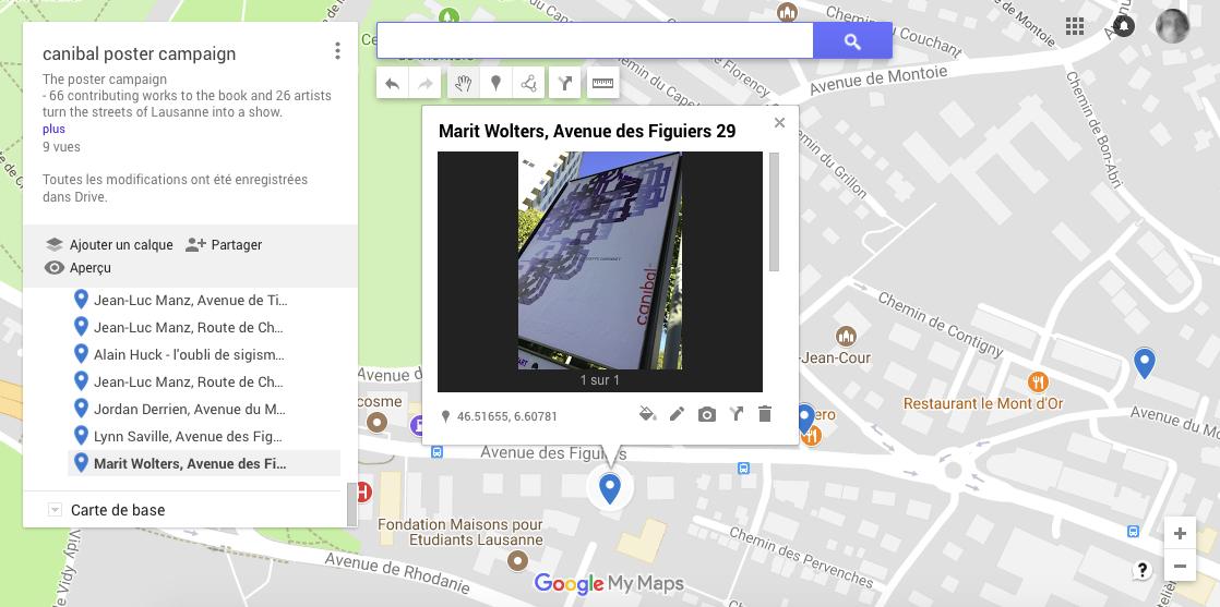 Marit Wolters, avenue des Figuiers 29, Lausanne-map