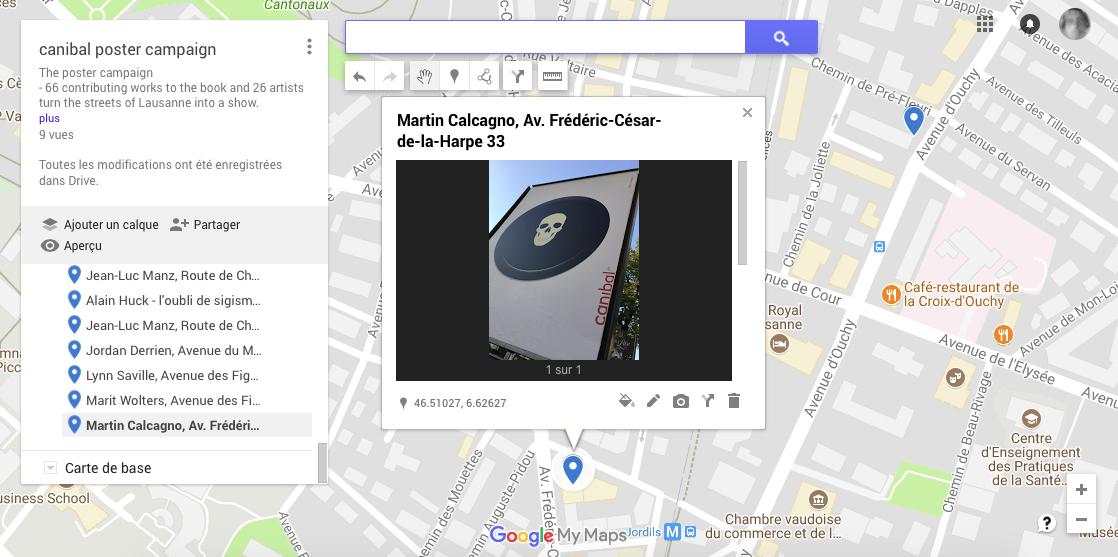 Martin Calcagno, avenue de La Harpe 33, Lausanne-map