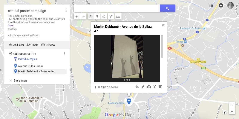 Martin Debbané, avenue de la sallaz 47, Lausanne- map