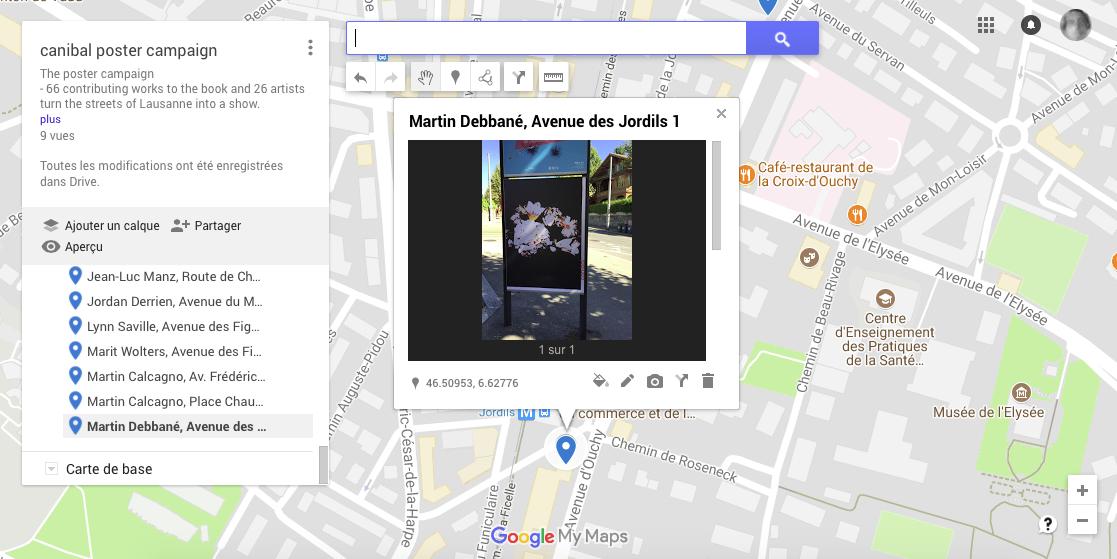 Martin Debbané, avenue des Jordils 1, Lausanne-map
