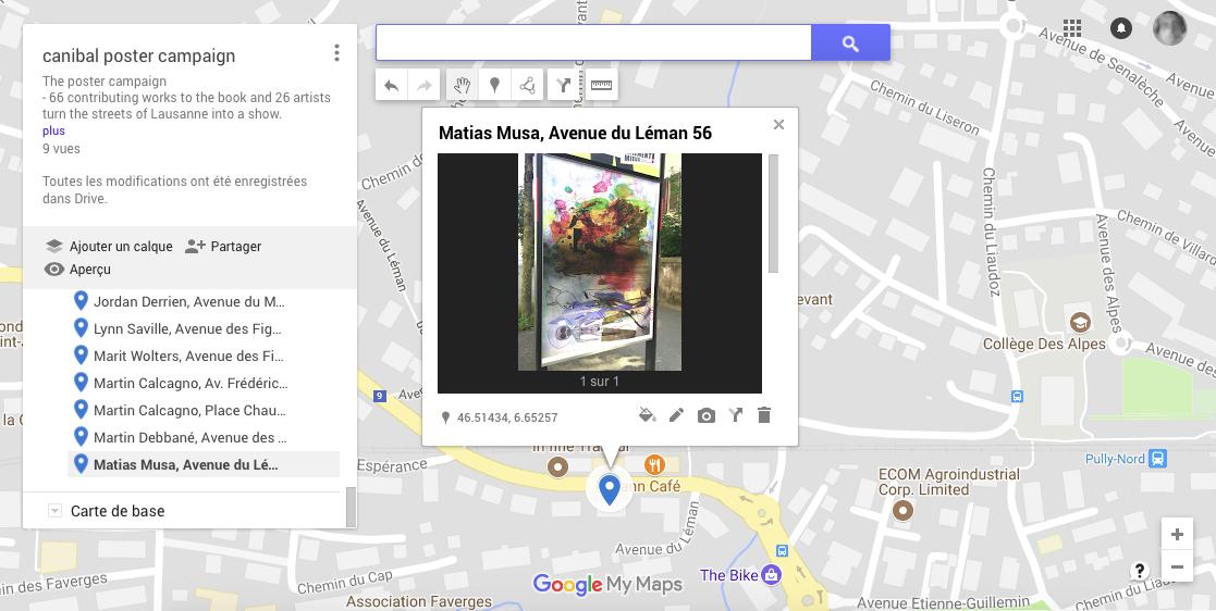Matias Musa, avenue du léman 56, Lausanne-map