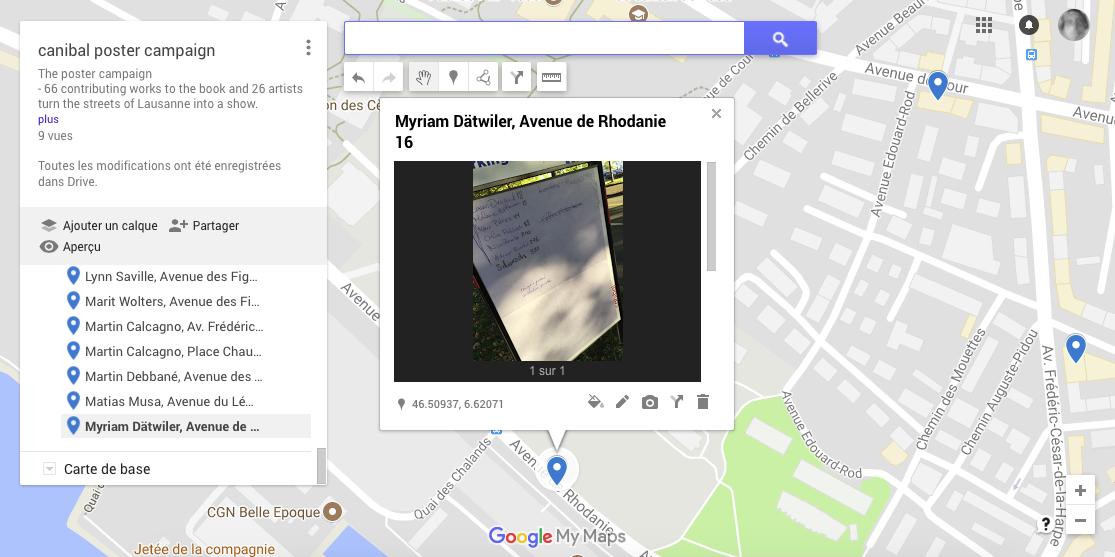 Myriam Dätwiler, avenue de Rhodanie 16, Lausanne-map