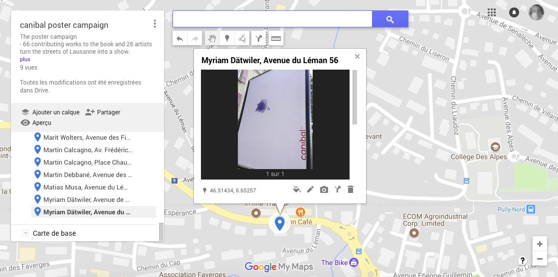 Myriam Dätwiler, avenue du léman 56, Lausanne-map