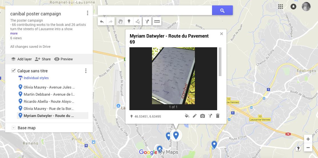 Myriam Dätwiler, route du pavement 69, Lausanne-map