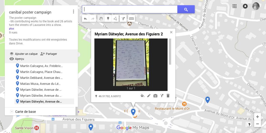 Myriam Dätwyler, avenue des figuiers 2, Lausanne-map