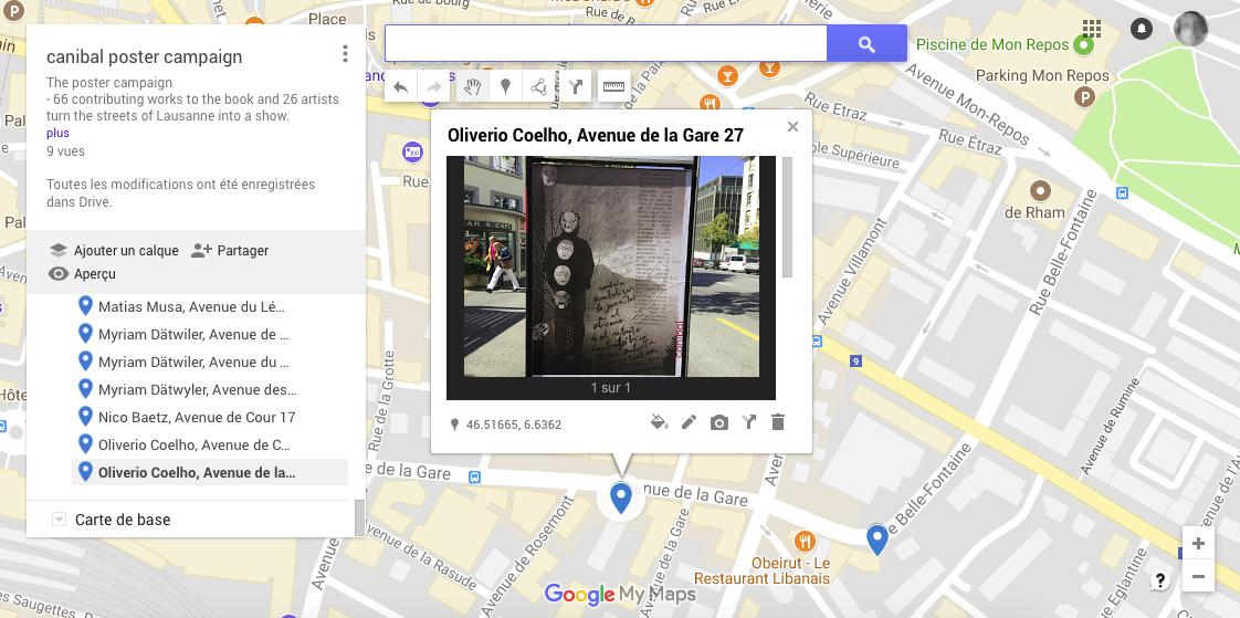 Oliverio Coelho, avenue de la Gare 27, Lausanne-map
