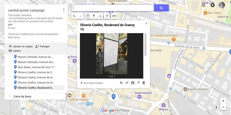 Oliverio Coelho, boulevard de Grancy 15, Lausanne-map