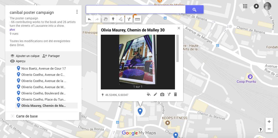 Olivia Maurey, chemin de malley 30, Lausanne-