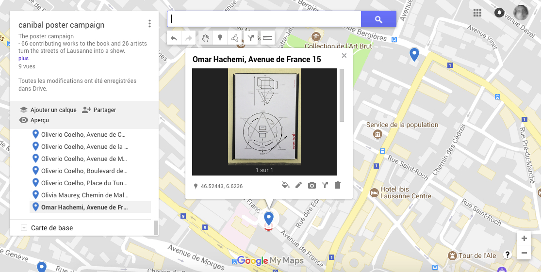 Omar Hachemi, avenue de france 15, Lausanne-map