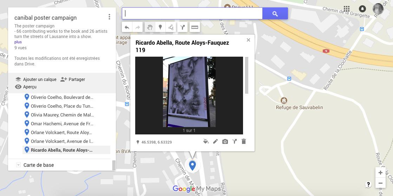 Ricardo Abella, route aloys-fauquez 119, Lausanne-map