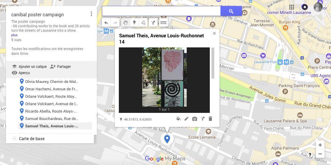 Samuel Theis, avenue Louis-Ruchonnet 14, Lausanne-map