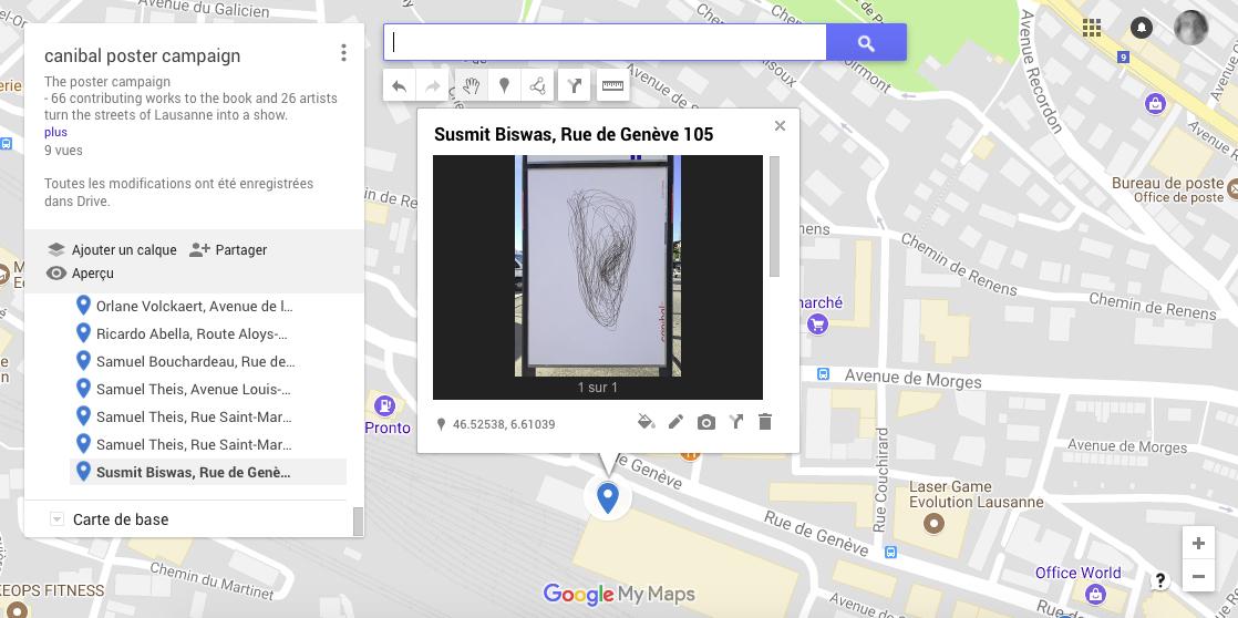 Susmit Biswas, rue de genève 105, Lausanne-map