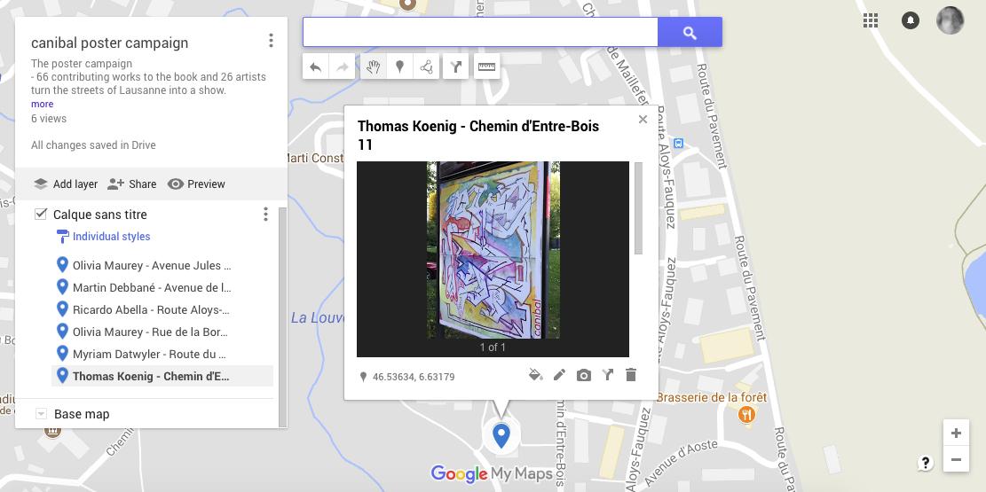 Thomas Koenig, chemin d'entre-bois 11, Lausanne-map