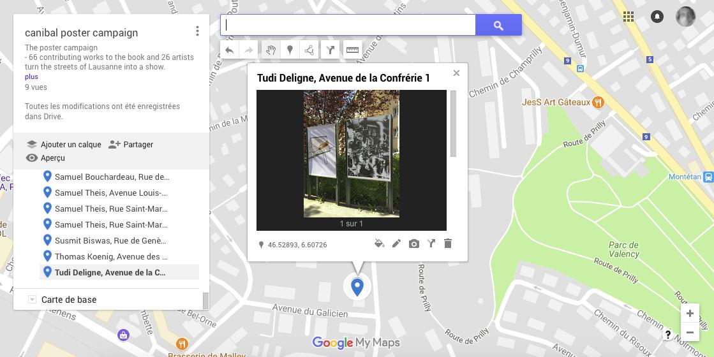 Tudi Deligne, avenue de la confrérie 1a, Lausanne-map