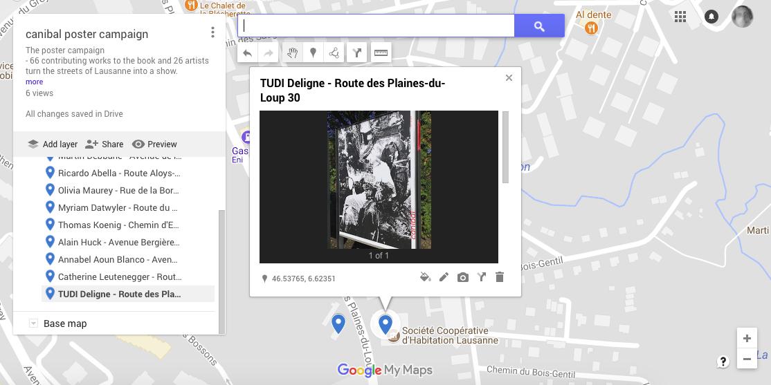 Tudi Deligne, route des plaines du loup 30, Lausanne-map