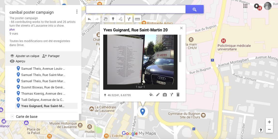 Yves Guignard, rue Saint-Martin 20, Lausanne-map